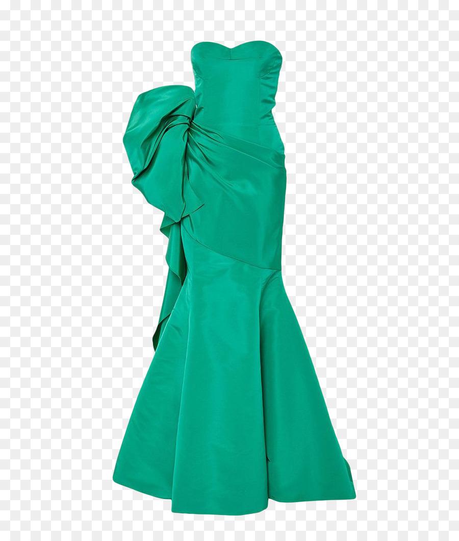 Green Dress Evening gown Ruffle - Green evening dress png download ...