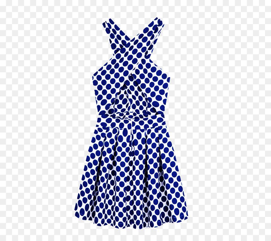 Vestido de la Blusa de la Falda del Delantal de Lunares - Cruz azul ...