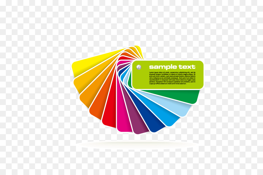 Color chart CMYK color model Royalty-free - Notes,Flat,Colorful png ...