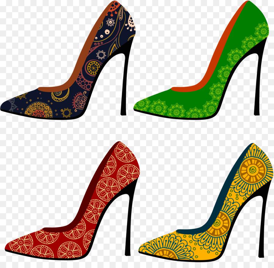 Yüksek Topuklu Ayakkabılar Ayakkabı Modası El Boyalı Boyama