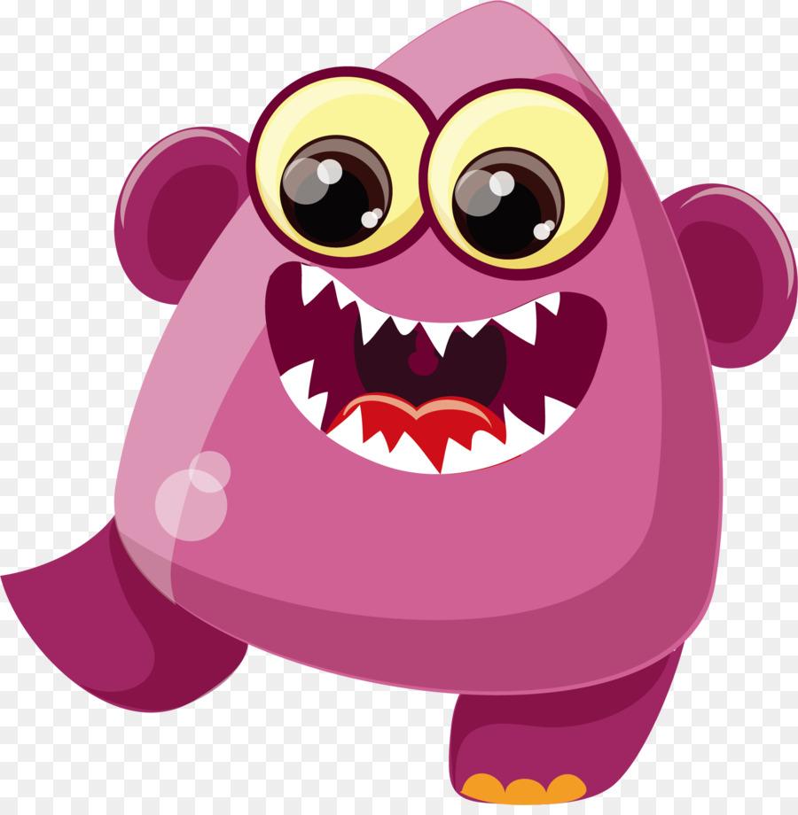 Cartoon Bacteria Virus Purple Fangs 18681887 Transprent Png Free