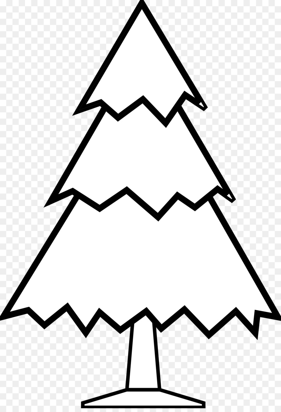 Christmas Tree Pine Black And White Clip Art
