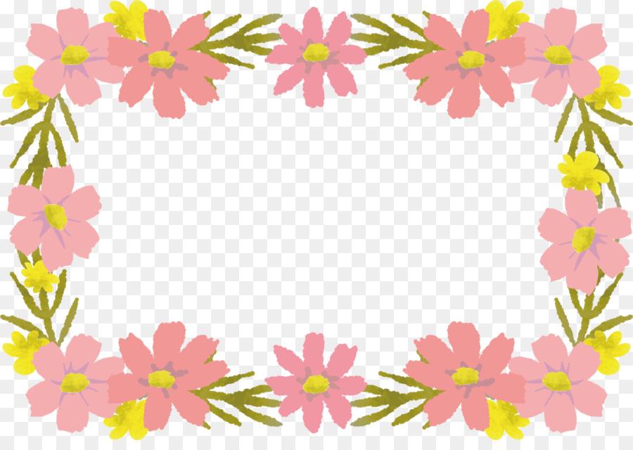 Pink floral design pink flower border frame png download 1191 pink floral design pink flower border frame mightylinksfo