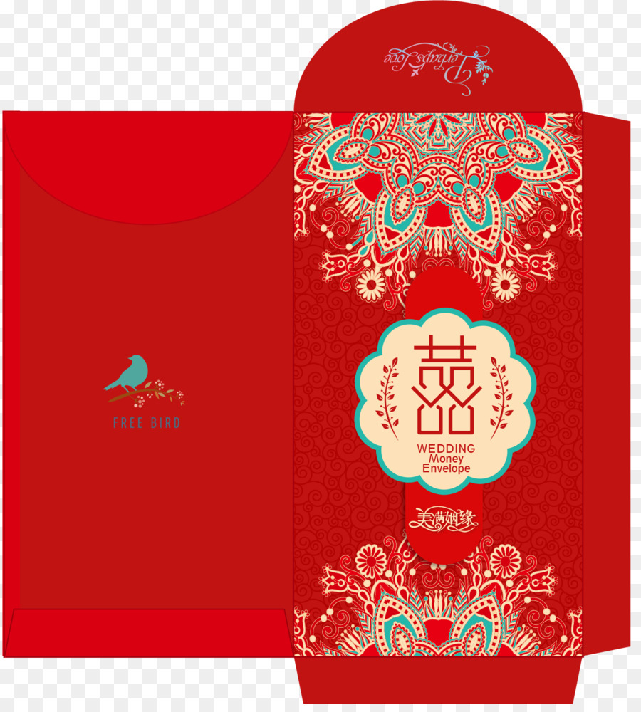 China Wedding invitation Red envelope Template - Married red ...
