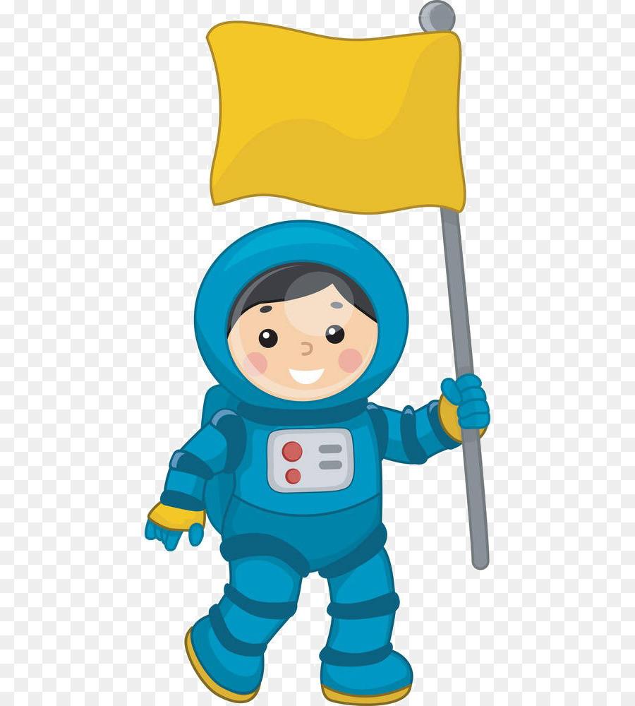 Astronaut Space suit Clip art - Cartoon child flag png download ...
