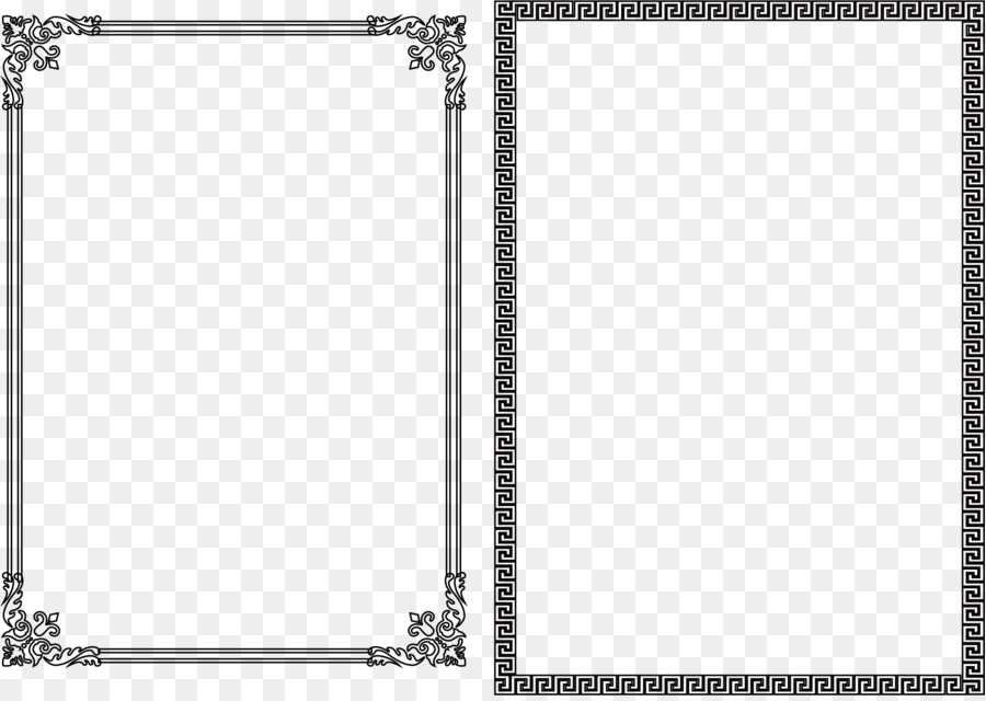 Black and white - Nice black frame png download - 2402*1696 - Free ...
