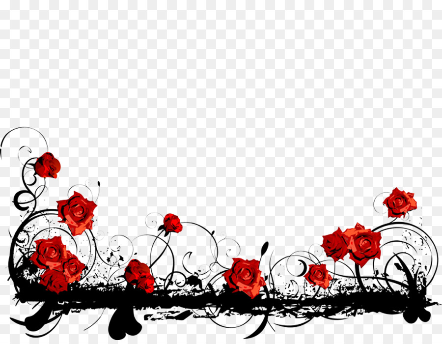 Borders And Frames Red Rose Clip Art Red Roses Edge 1117