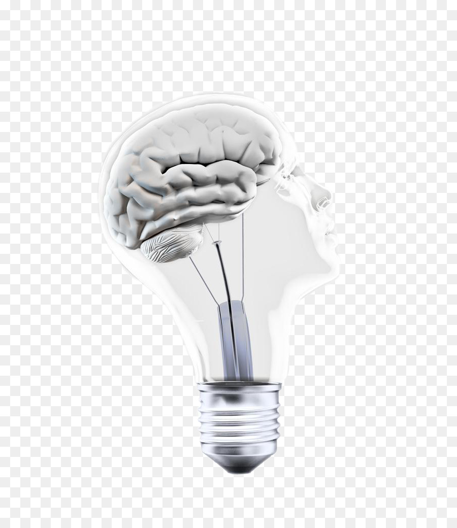 Incandescent Light Bulb Brain Concept Electric Light   Creative Bulb Brain
