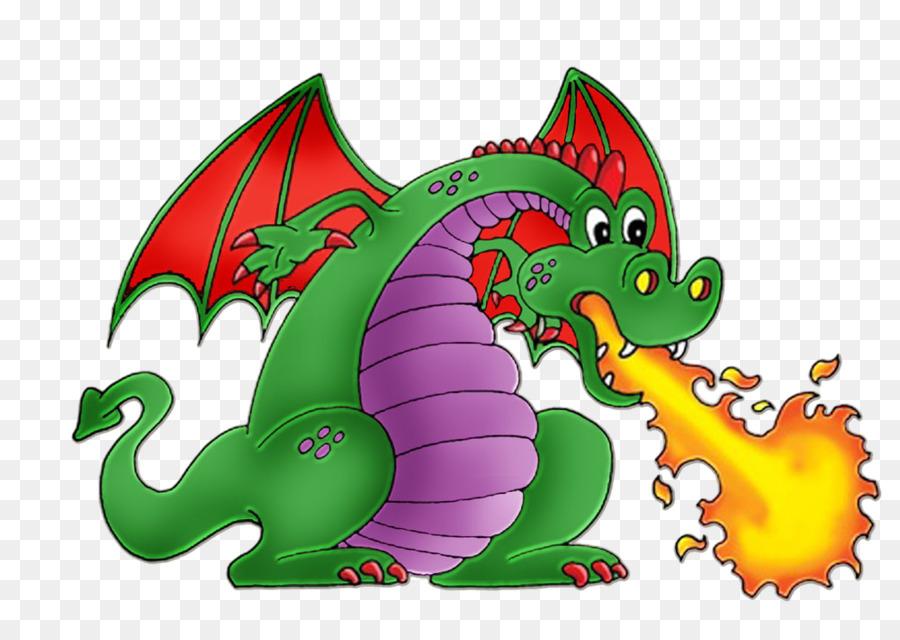 Aliento de fuego del Dragón de dibujos animados Clip art ...