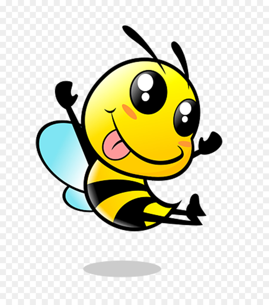 Honey Bee Clipart Image: Cartoon honey bee flying around ...