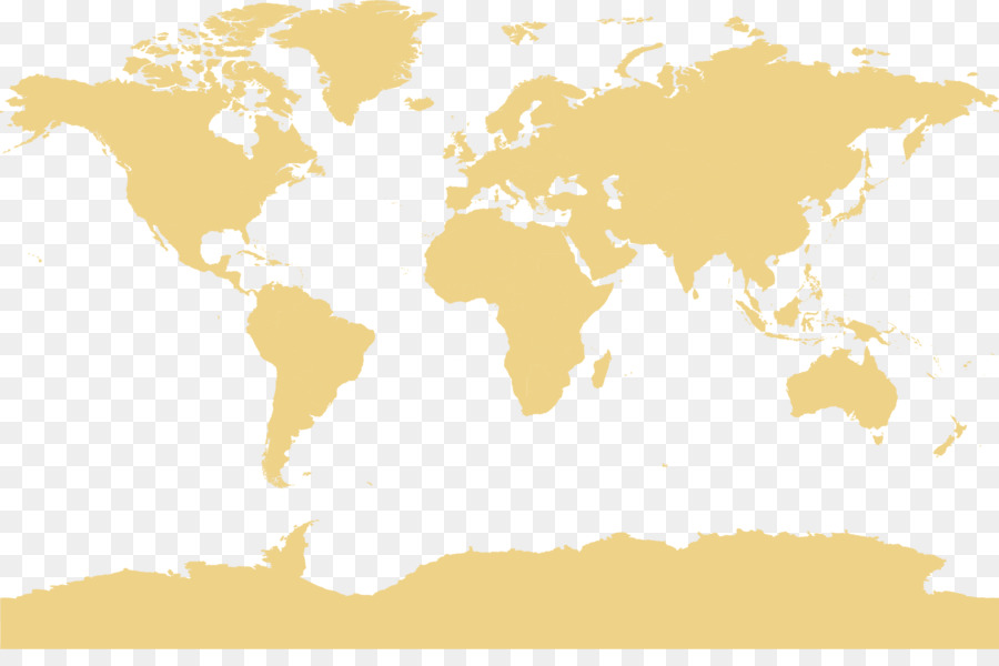World Map Globe Office Pale Yellow Earth Plate Png Download 1540