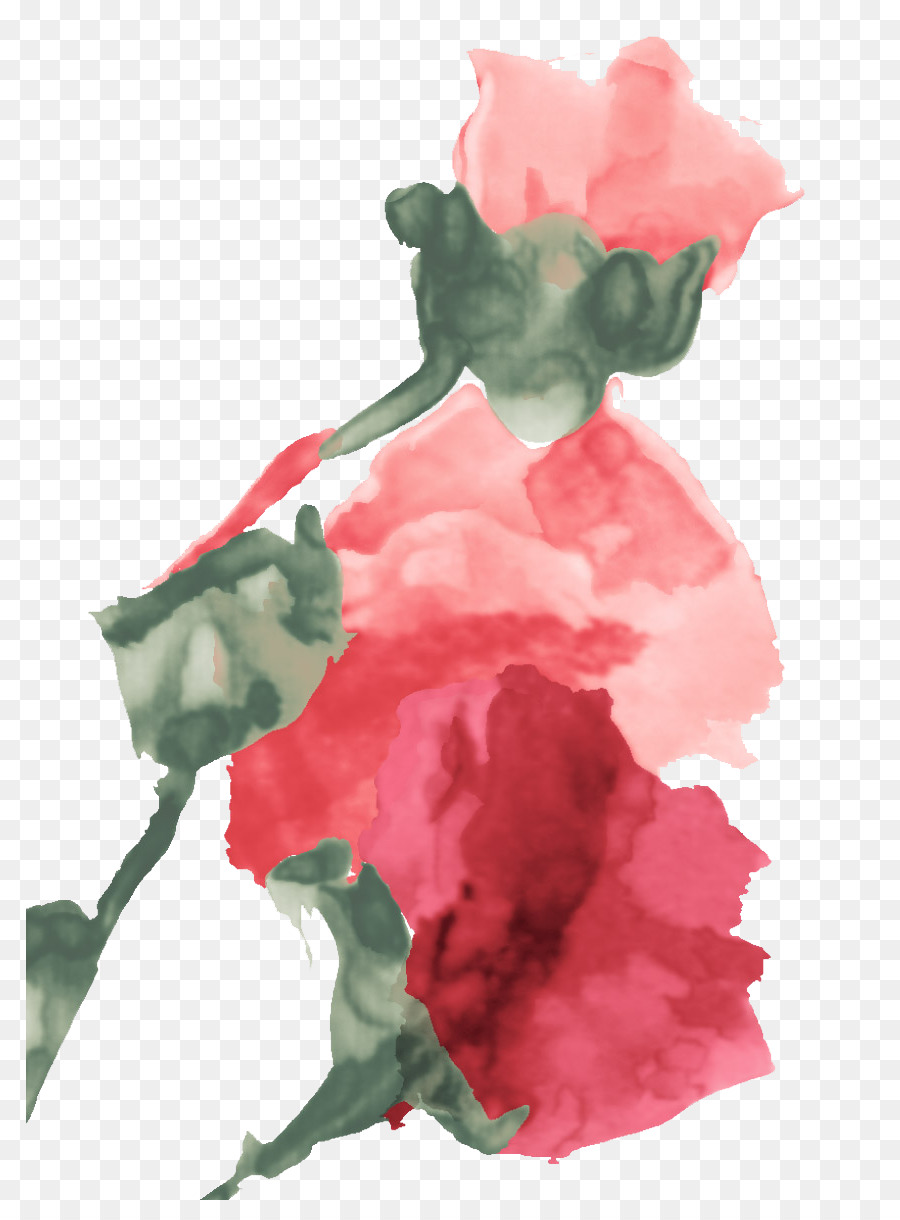 beach rose garden roses flower chinese painting watercolor flowers