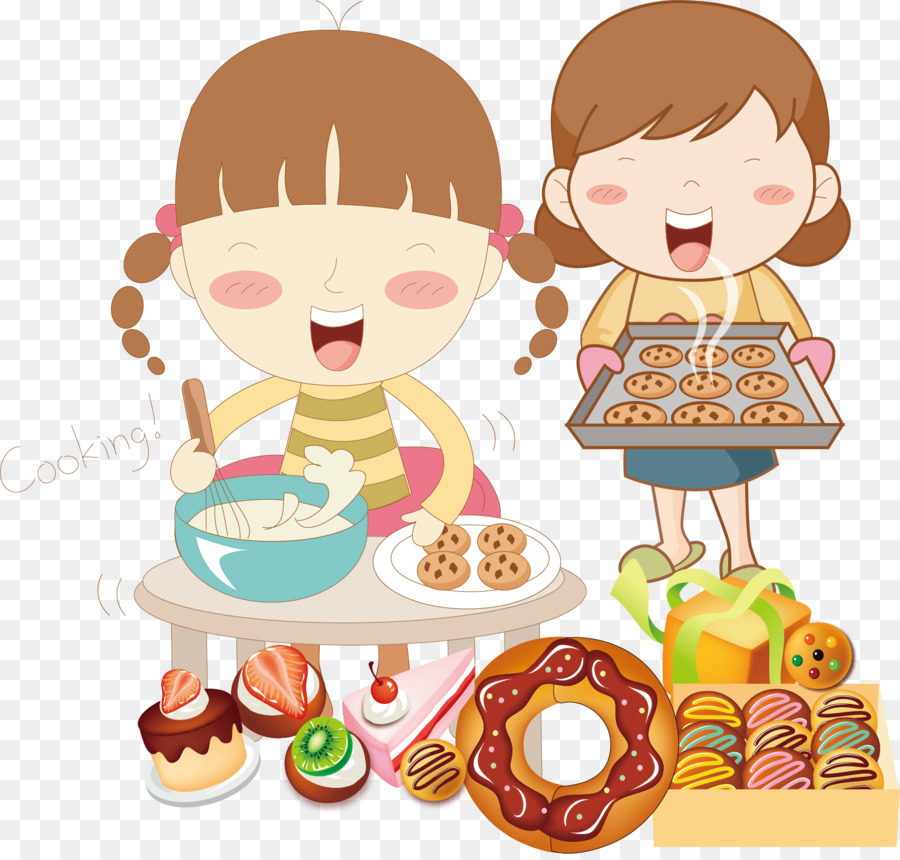 Eating Child Fast Food Clip Art Vector Cartoon Children