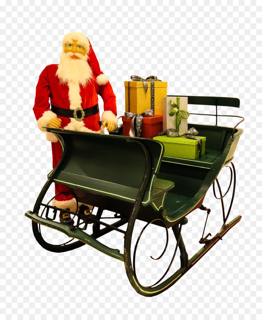 Weihnachtsmann Rentier Weihnachts Schlitten Geschenk ...