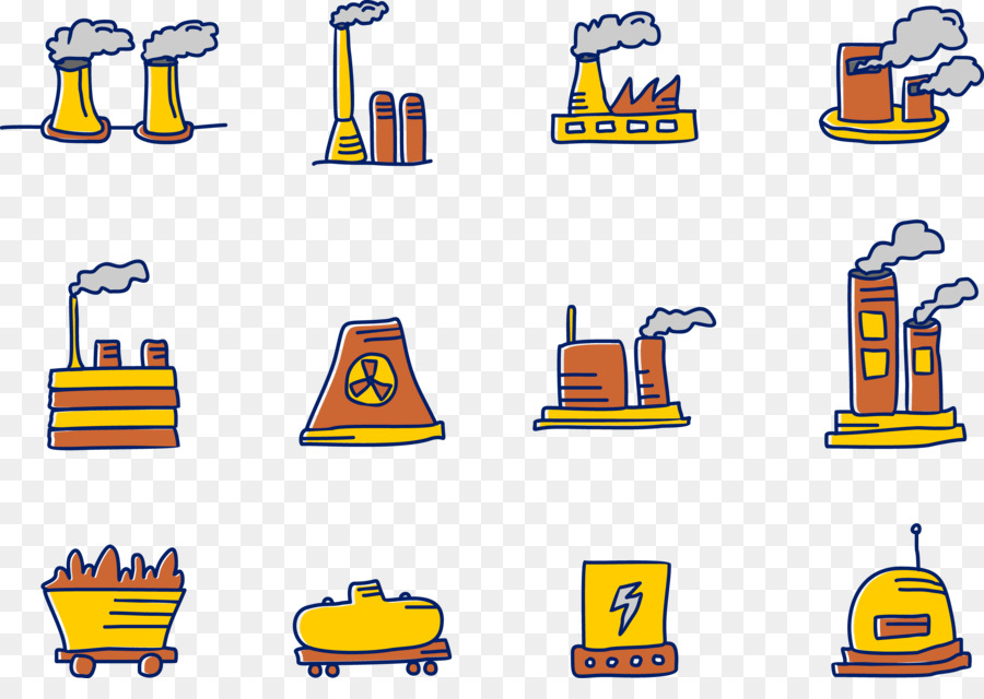 how to draw a factory