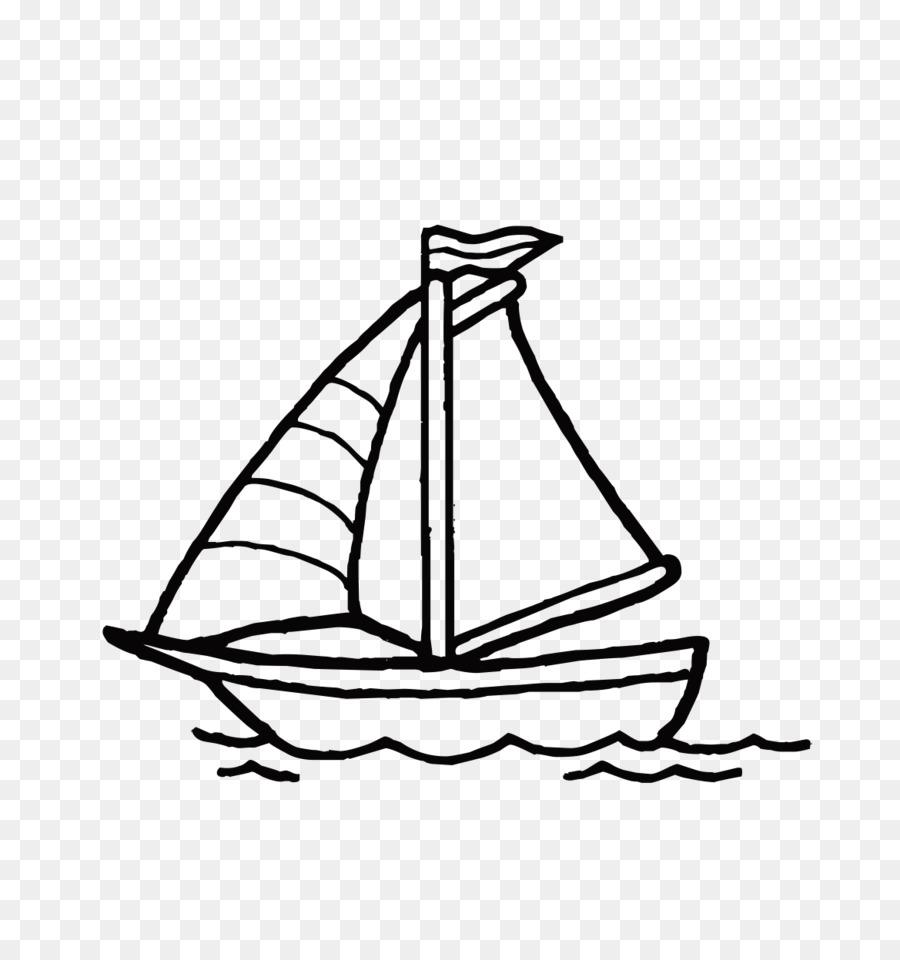 Boyama Kitabı Yelkenli Tekne Formu Yelkenli Siluet Png Indir