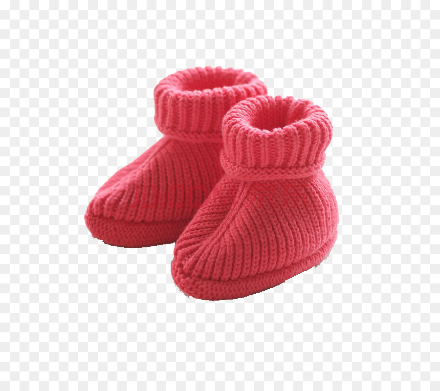 Zapatilla Zapato Tejido Crochet Niño - Rojo de lana, zapatos de bebé ...