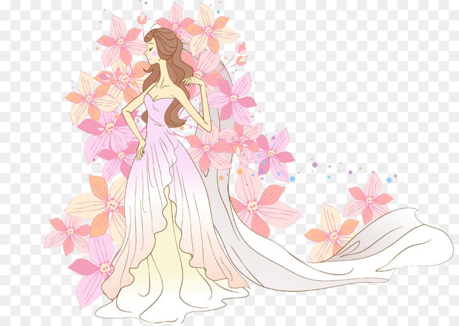 Braut Hochzeit Fotografie Cartoon Gemalte Schonheit Kreatives