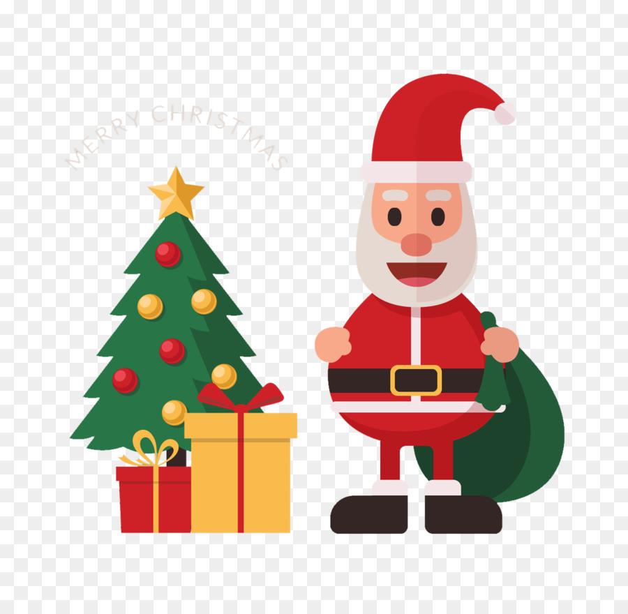 Santa Claus Christmas Tree Drawing Gift Cartoon Santa Claus