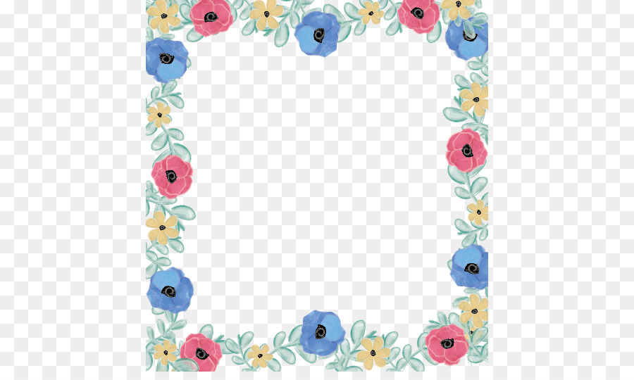 Floral Design Paper Flower Hand Painted Floral Decoration Border