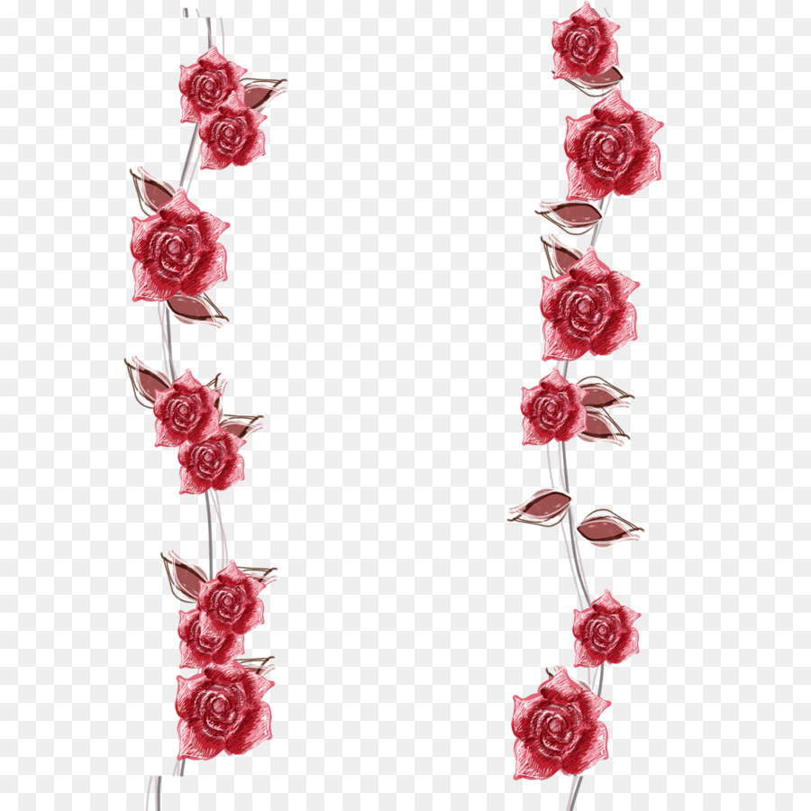 Beach Rose Flower Photography Red Rose Petals Edge Png Download