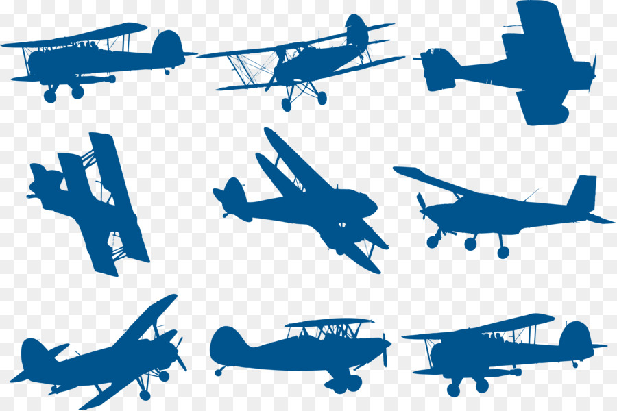 Airplane Biplane Silhouette Download