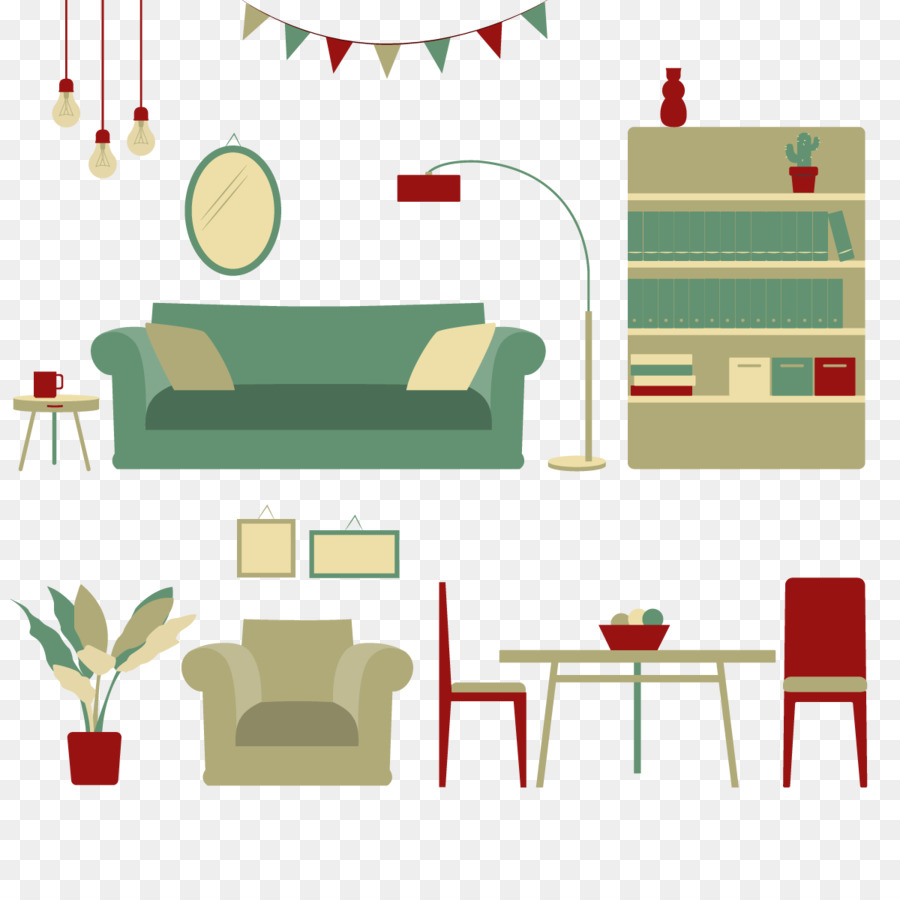 Table Furniture Living Room Vector Home Decoration Png Download