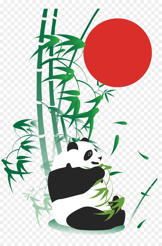Riesen Panda Bambus Zeichnen Mit Adobe Illustrator Naturliche