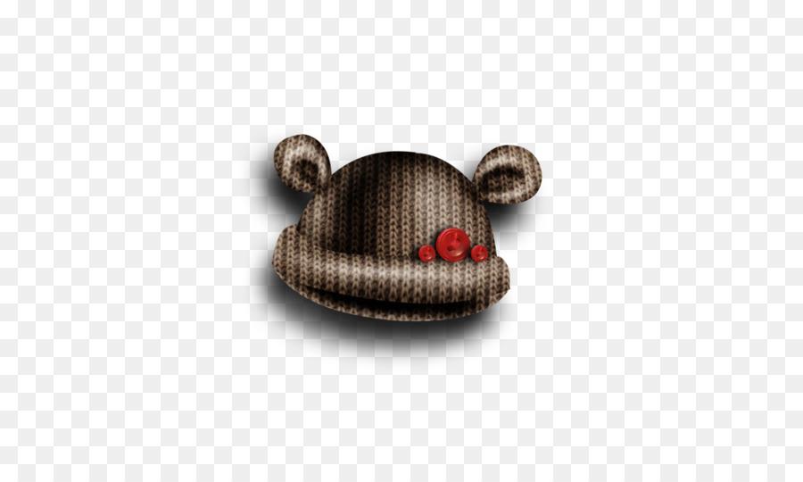 Brown Tapa Del Botón - Marrón de punto sombrero de patrón de botones ...