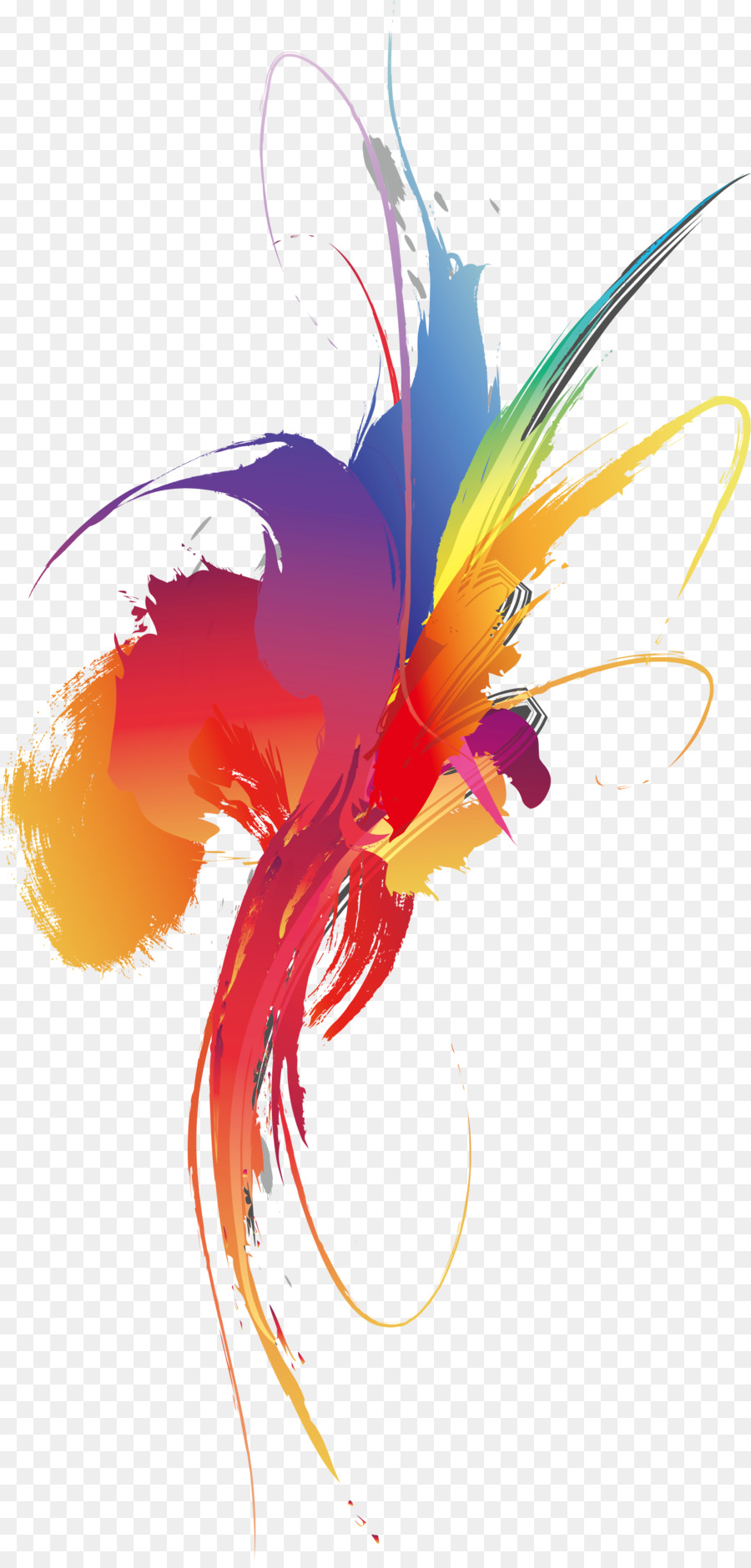 Graphic design Color Wallpaper - Colorful smear splash color block ...