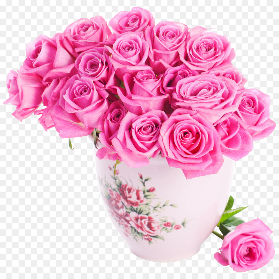 Rose Pink Flowers Pink Flowers Vase Png Download 10241024