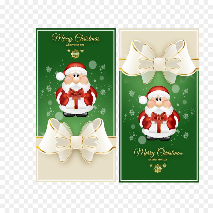 Santa Claus Wedding Invitation Christmas Card Green Christmas