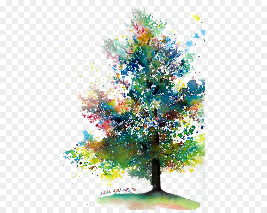 Watercolor Painting Drawing Tree