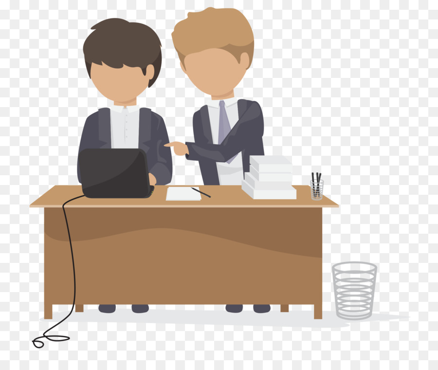 Office Logo Cartoon Icon Office Work Scene Png Download 1919