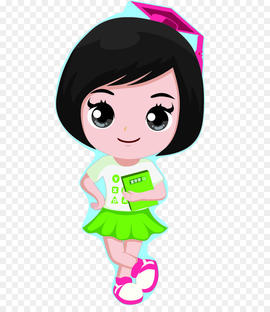 cartoon illustration girls with short hair png download baby border clipart free baby border clipart free