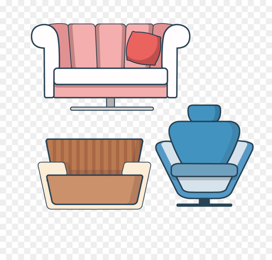 Couch Cartoon Icon Cartoon Three Different Looks Sofa Png Download