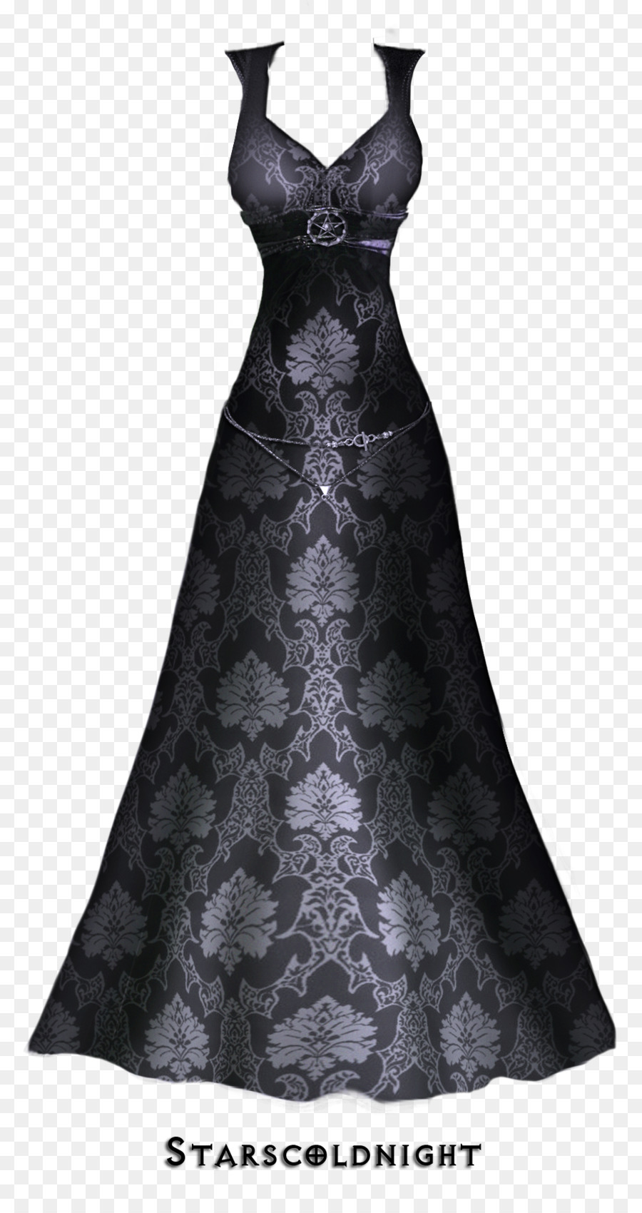 Dress Ball gown Lace - Black lace evening dress lines png download ...