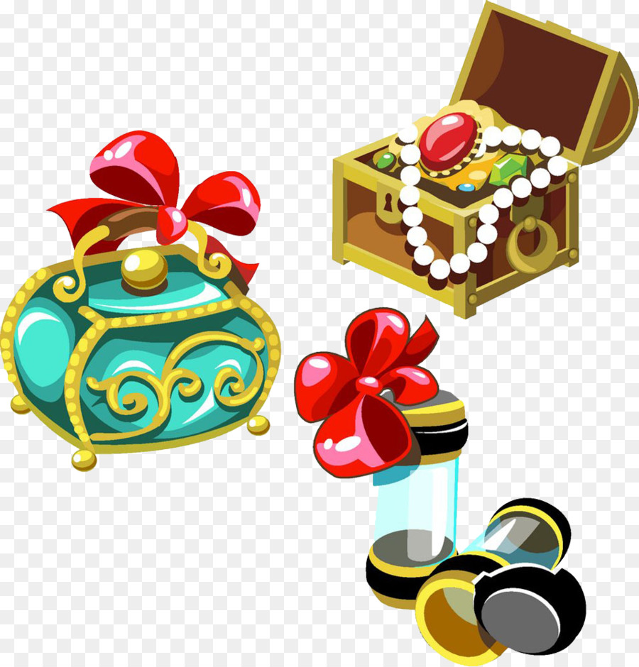 cartoon jewellery illustration jewelry boxes decorative elements