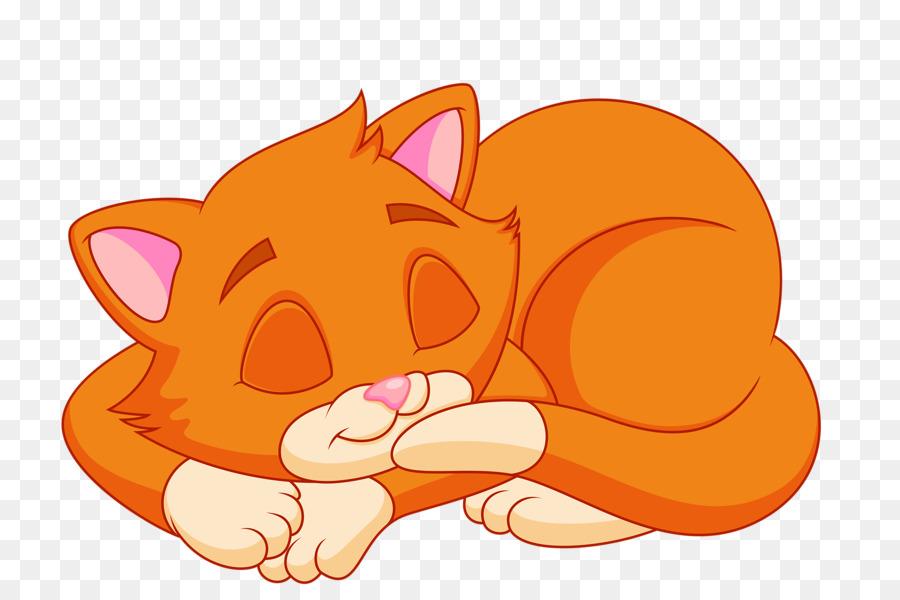 Cat Kitten Cartoon Clip art - Sleeping cat png download ...
