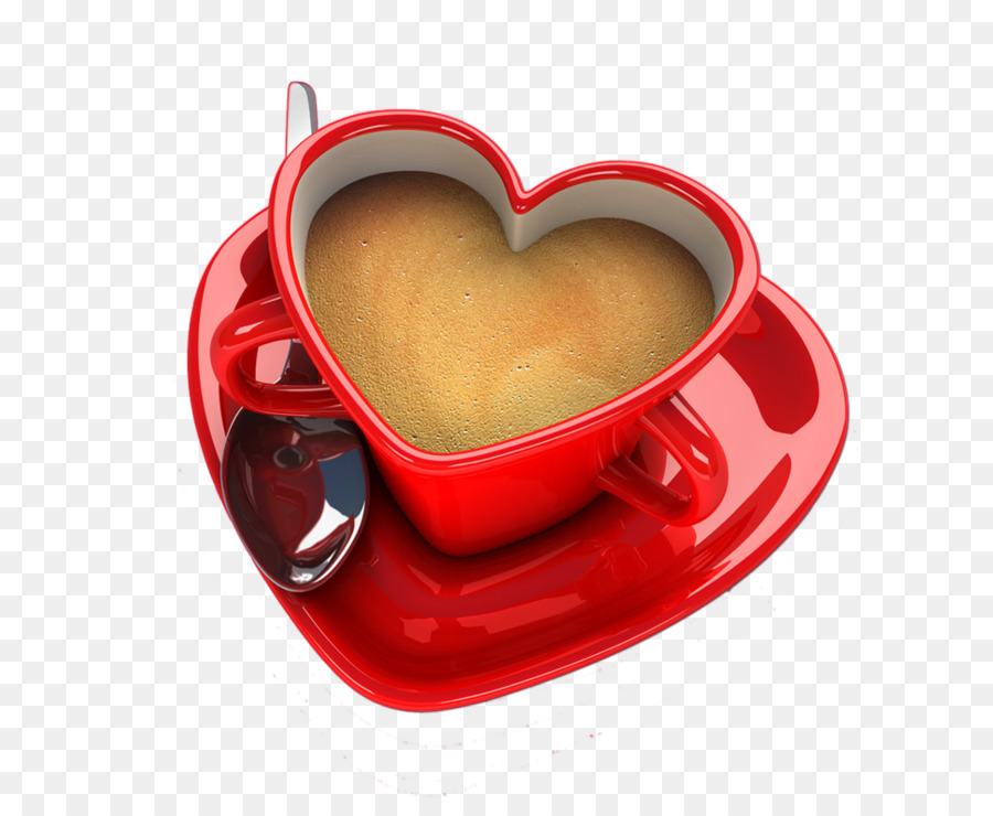 Coffee Cup Tea Heart Saucer Love Coffee Png Download 969780