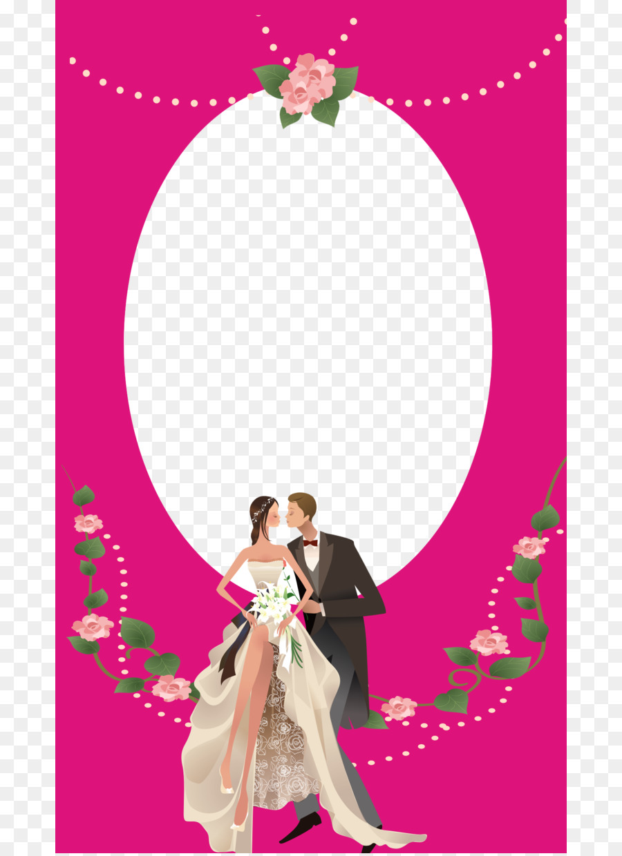 Picture frame Contemporary Western wedding dress Clip art - Pink ...