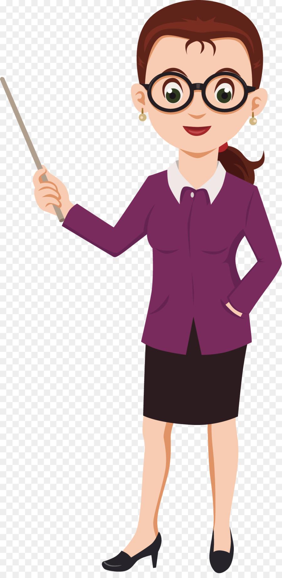 Cartoon female teacher clipart