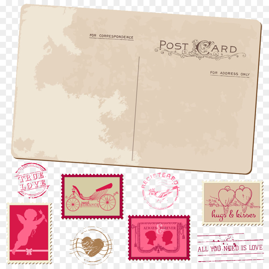 Wedding invitation Postcard Postage stamp Greeting card - Wedding ...