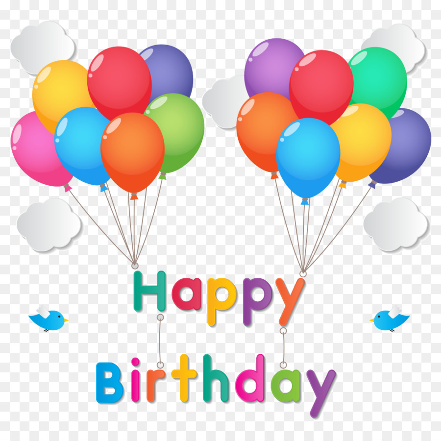 Happy Birthday to You Balloon - happy png download - 1000*1000 ...