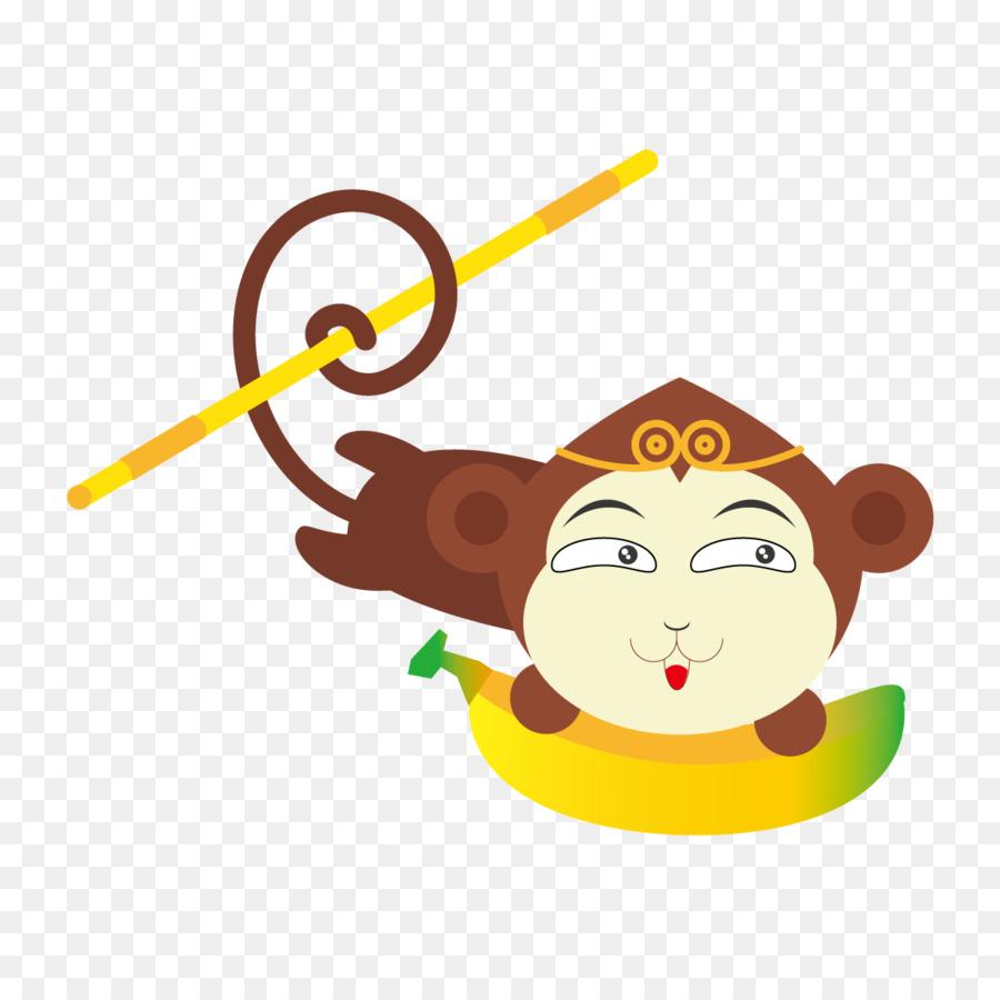 Sun Wukong Monkey Drawing   Cartoon Monkey Flat Vector