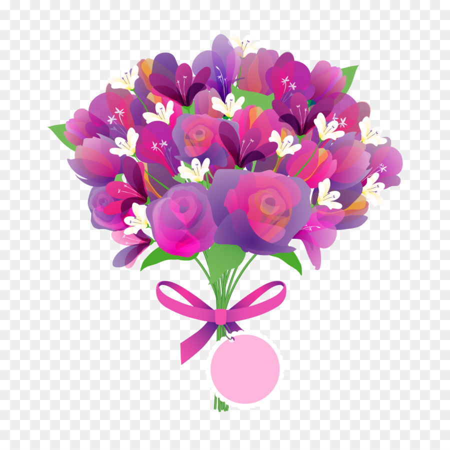 Mothers Day Flower bouquet Greeting card - Vector Rose png download ...