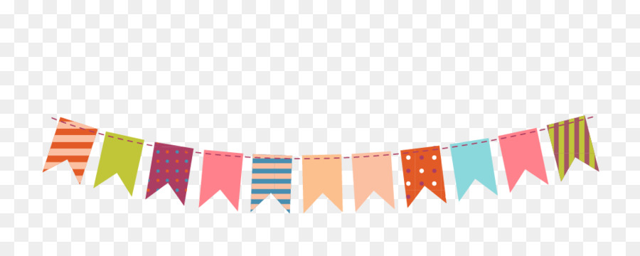 Paper Bunting Party Clip art - Color decorative hanging ...