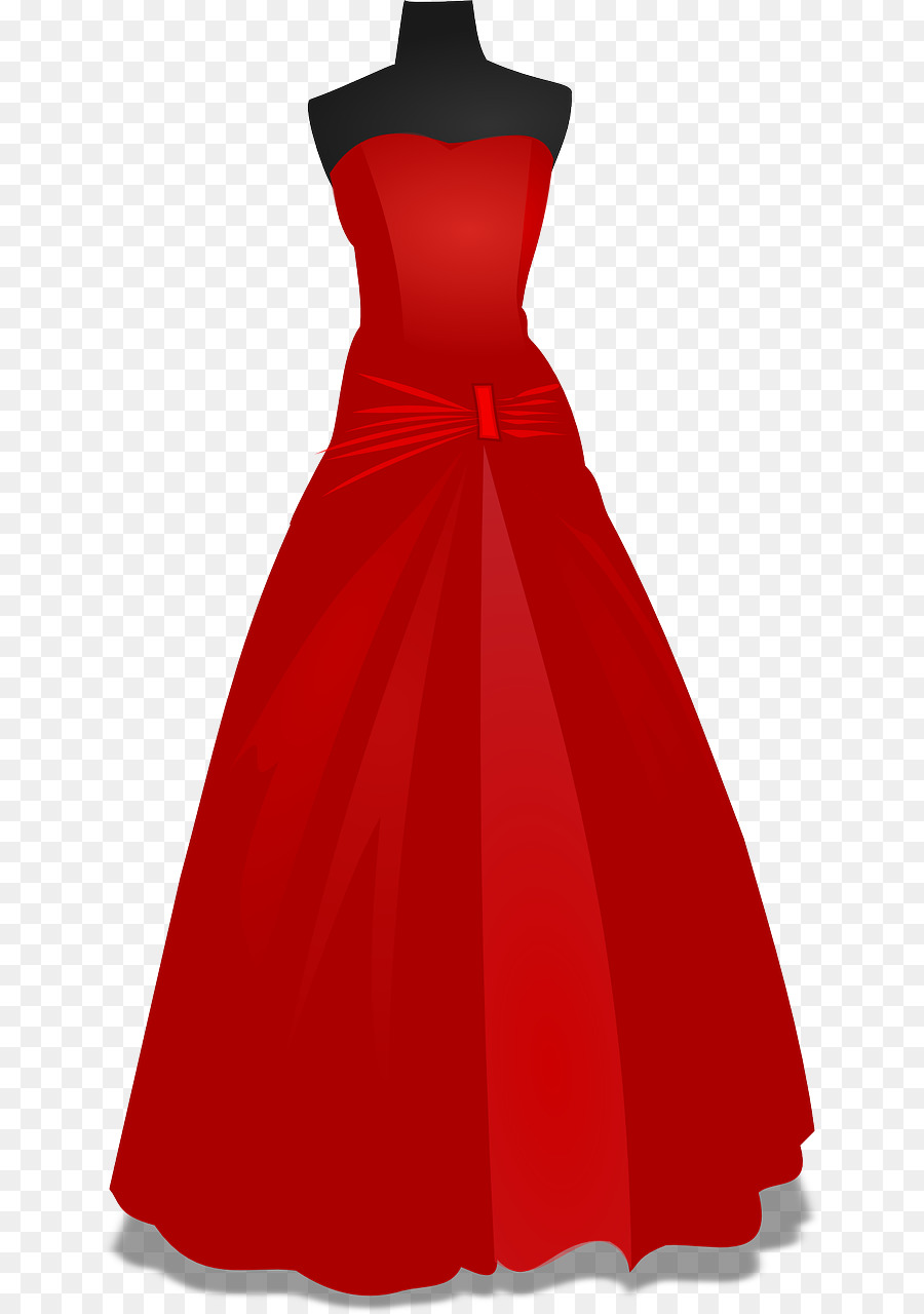 Dress Prom Formal wear Gown Clip art - Red wedding png download ...