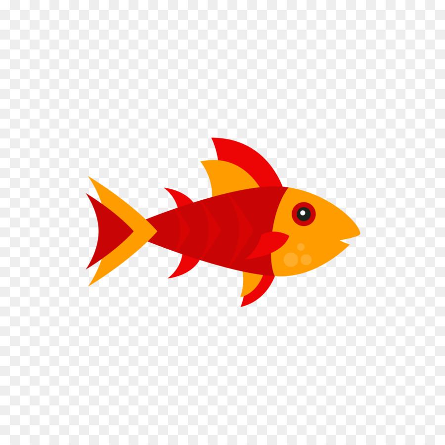 Red Drawing Cartoon Clip art - Reddish orange fish png download ...