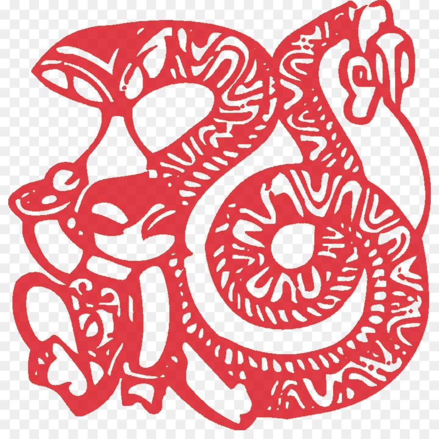 Chinesische Tierkreiszeichen das chinesische Neujahr Scherenschnitt ...